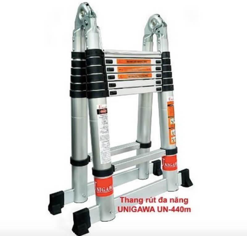 Giới thiệu về thang nhôm rút đa năng UNIGAWA UN-440M(4,4M)