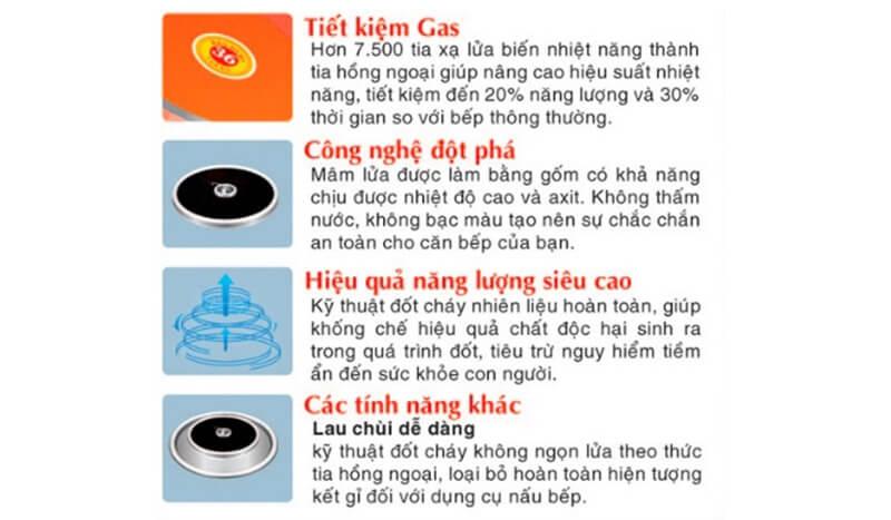Ưu điểm của bếp gas hồng ngoại so với bếp gas thông thường