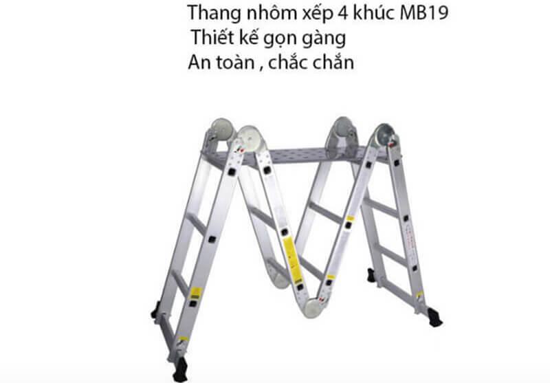 Thông tin về sản phẩm thang nhôm xếp 4 khúc MB19