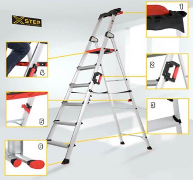 Đặc trưng của sản phẩm thang nhôm ghế XSTEP XL – 06