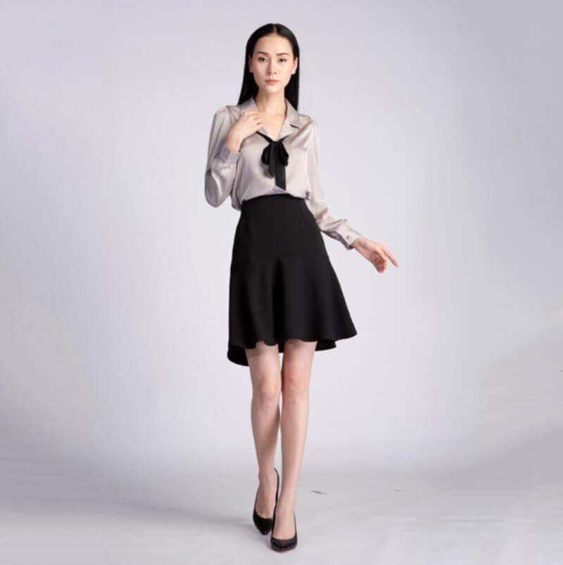 Chân váy chữ A phom chuẩn là lựa chọn an toàn nhất