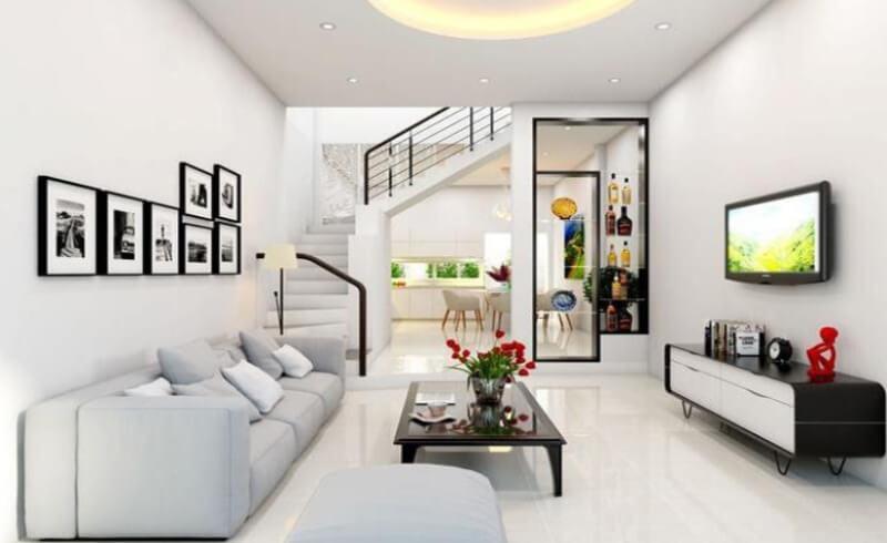 Treo tranh ảnh ấn tượng giúp làm nổi bật phòng khách nhỏ